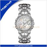 ピンクのモップのダイヤルが付いているPsd-2260ブレスレットの水晶腕時計