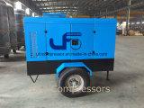 최신 판매 5.3m3/Min의 디젤 엔진 휴대용 공기 압축기