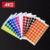 Papel térmico multifuncional colorida pieza redonda etiqueta etiqueta autoadhesiva DOT