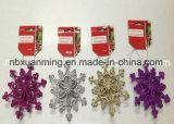 Ornamento del árbol de navidad del brillo/copo de nieve de la Navidad