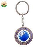 Il marchio su ordinazione il metallo Keychain della pressofusione con l'anello per la donna