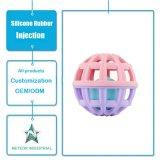 Esfera adiantada personalizada da percepção de toque da instrução do bebê que agarra a modelagem por injeção de borracha de silicone da esfera