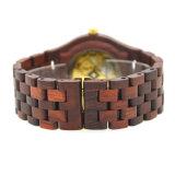 Мода часы из дерева с 100% натурального красного сандалового дерева ручной работы автоматической механические часы из дерева