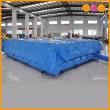 De blauwe Opblaasbare Mat van Satety van de Mat van de Lucht van het Platform Opblaasbare voor Verkoop (aq16282-9)