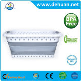 Lavandaria Plástico Personalizado tamanho da cesta dobrável 62*44,5*26,2 cm