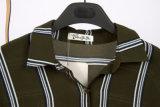 方法ばねの縞によって印刷される長い袖のシフォンのブラウス
