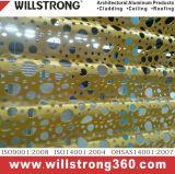 Surface 3D de panneaux composites en aluminium de l'architecture les panneaux de signalisation de plafond de la canopée des Façades Façades Ventilées