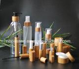 1oz 2oz biberões e boiões clara com bomba de loção de bambu e tampa superior do disco frasco de tampa roscada