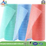 Neuer wellenförmiger Streifen-nichtgewebtes Rollentuch für Haushaltung