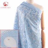Tessuto svizzero africano del merletto del voile del vestito da cerimonia nuziale di alta qualità