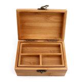 Caja de madera Vintage Caja de madera Caja de almacenamiento del organizador de joyería