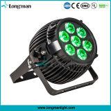 Super brillante mayorista al aire libre 7X15W RGBW PAR LED de iluminación puede