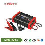 Lader van de Batterij van het lood Zure 8 de Lader van de Auto van Stadia 12V 5A