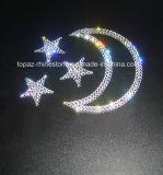 Estrellas y etiqueta engomada cristalina del Rhinestone de la etiqueta engomada del palillo auto-adhesivo de la luna (TS-Estrellas)
