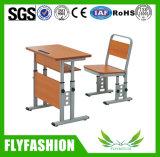 Muebles de la escuela primaria niños silla mesa regulable en altura