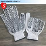 耕作のためのPVCによって点を打たれる安全綿の手袋作業手袋