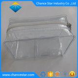 Brosse de maquillage clair PVC personnalisé Sac avec crochet de chaîne