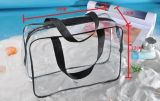 Sachet en plastique cosmétique transparent clair de sac de PVC de promotion