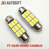 Lampadine automatiche C5w 5630 indicatore luminoso della targa di immatricolazione di 5730 9SMD Canbus