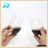 Кривого перста 10 Oz чашка вина ясной пластичной Stemless, пластичное стекло Tumbler
