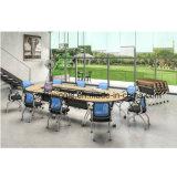Resopal-Tisch-oberster faltbarer Trainings-Schreibtisch mit Fußrollen für entfernbare Unterseite