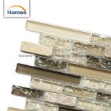 Ice трещины газа обои кухни из камня и стеклянной мозаики плитки