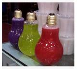 Nuevas botellas de cristal de la bebida del diseño 250ml 500ml para el jugo, botellas de cristal de leche con la paja y tapa