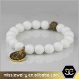 人の自然な石造りの瑪瑙のビードのブレスレット、陽気なビードのブレスレットMjb026