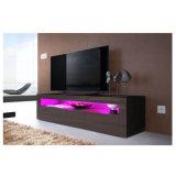 Haut brillant noir UV Dressoir de lumière LED TV Stand de l'unité