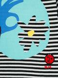 줄무늬로 하는 주문 소녀 및 만화에 의하여 인쇄되는 t-셔츠