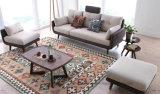 Moderner Entwurf 3 Seater Gewebe-Sofa mit festem Holz