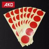 Papier enduit de vert bleu de Sun Adehsive de collants de joint jaune rouge d'étiquette