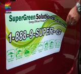 Movibles de encargo impermeabilizan la hoja magnética impresa de la etiqueta engomada del coche (SS-MS-1)