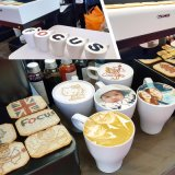 Капучино Latte фабрики струится принтер кофеего Macaron с Ce
