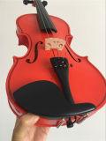 Rote Kursteilnehmer-Violinen-Musikinstrument mit Violinen-Kasten