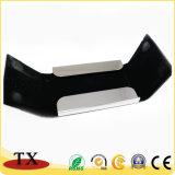 Metal y cuero modificados para requisitos particulares alta calidad Cardcase conocido del asunto con insignia grabada