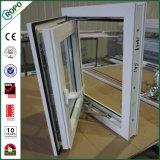 白いPlastic/PVCは窓ガラスの開き窓のWindowsを選抜する