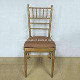 يتزوّج مأدبة معدن ذهبيّة [شفري] [تيفّني] كرسي تثبيت قابل للتراكم ([ج-ج01])