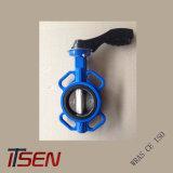 Ferro Fundido DIN Pn16 Wafer Válvula Borboleta tipo alavanca com pega de alumínio