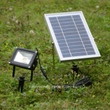 Indicatore luminoso di inondazione solare del giardino del sensore chiaro impermeabile dell'indicatore luminoso 12 LED