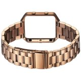 Fitbitの炎のためのフレームが付いている金属のステンレス鋼の時計用バンドストラップバンド