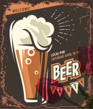 Het Teken van het Tin van het bier voor reclame