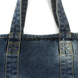 Сумка Tote покупкы плеча джинсовой ткани джинсыов холстины с 2 карманн