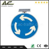 Poteau de signalisation solaire de vente de qualité de bord de la route de spire chaude de la circulation U