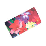Lcq-0127 OEM/ODM Flores Imprimir Moda Mujer larga Monedero personalizado