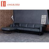 O couro genuíno americano ajustado do sofá projeta o sofá de canto pequeno