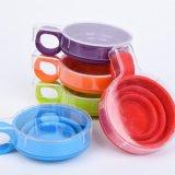 食品等級の携帯用多色刷りのシリコーンの折るコップ