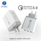 2.1A Fast Carregador adaptativo de viagem USB com cabo incorporado ficha EUA/UE para Apple iPhone Samsung Andriod