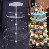 結婚披露宴、中国のアクリルの表示製造業者のためのアクリルのケーキの陳列台