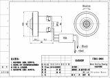 1000-1500W Poweful真空または手ドライヤーBLDCモーター